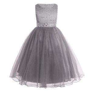 Image 4 - ילדים בנות נצנצים תחרה רשת מסיבת נסיכת שמלת פרח ילדה שמלת ילדי נשף כדור שמלות חתונה רשמי יום הולדת