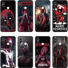 Deadpool Comic Black Matte Silicone Cover TPU Soft For Xiaomi Mi 9 8 Lite A2 A1 5X 6X For Redmi 6A S2 4X 5A Note 7 5 Pro 4X Case(China)