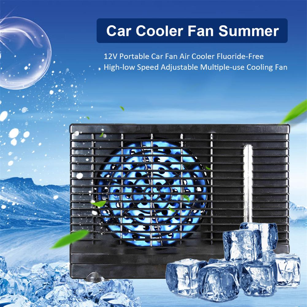 12 V Portable ventilateur de voiture refroidisseur d'air sans fluorure haute-basse vitesse réglable multi-usage ventilateur de refroidissement Portable pour bureau maison