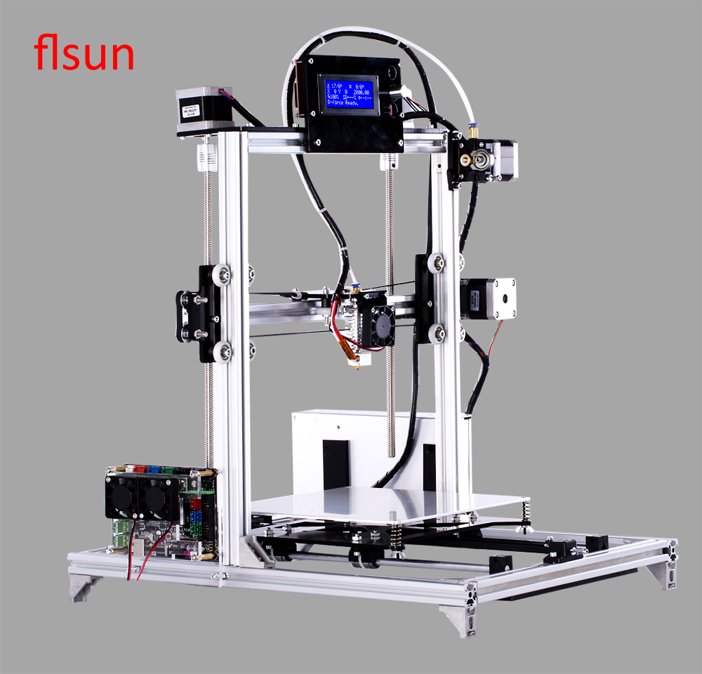 2016 Large Printing Size 200*200*220mm 3d-Printer With 2 Rolls Filament 2GB SD Card 2016 new 3d color printer kits large size 3dprinter with filament 2gb sd card