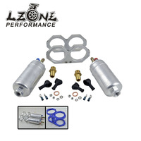LZONE One piece Double hole fuel pump bracket + Two pieces 044 fuel pump 300LPH JR FPB044+LD2611