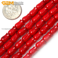 Flower Tulip Shape Genuine Coral Beads For Jewelry Making 6X9mm 15inches DIY Jewellery FreeShipping Wholesale Gem-inside