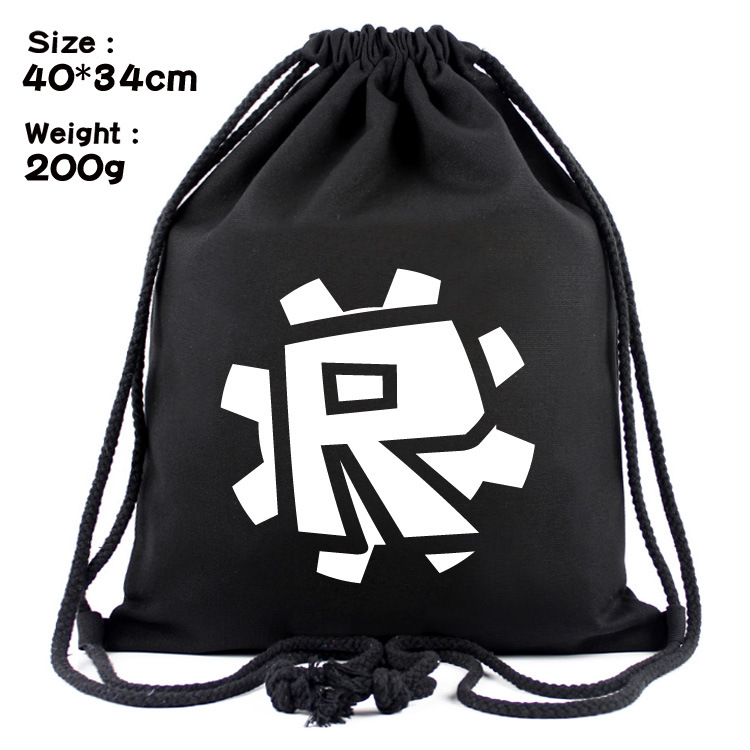 High Quality Canvas Game Roblox 3D Printing Schoolbags Pattern Drawstring Bag Travel Sof ...