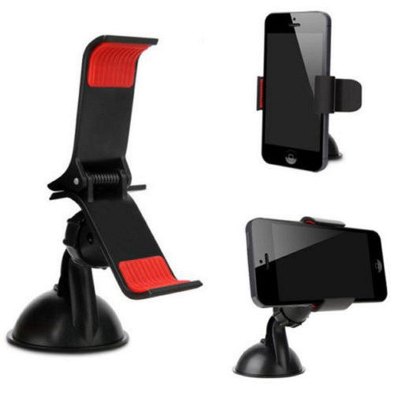 Universal 360 Rotating Car Windshield Mount Holder Stand For Phone GPS I6 zyz 189 universal 360 degree rotational car mount holder for gps cell phone black
