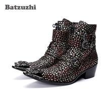 Batzuzhi ковбойские сапоги в западном стиле мужские туфли с
