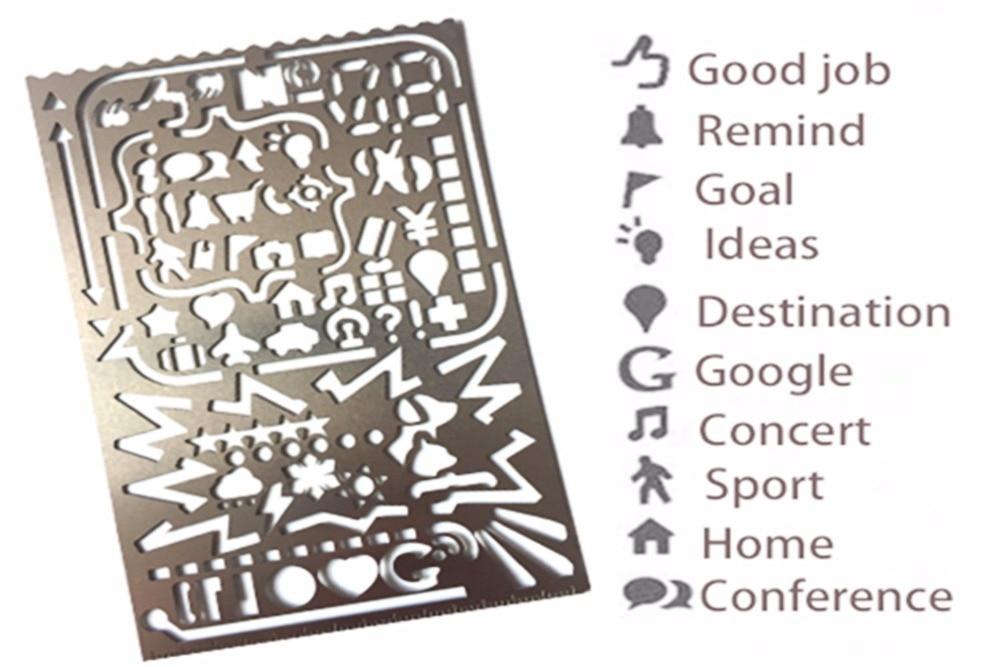 Bullet Journal Stencils Metal Template Ruler Planner Stencils Journal/Notebook/Diary/Scrapbook DIY Drawing Template