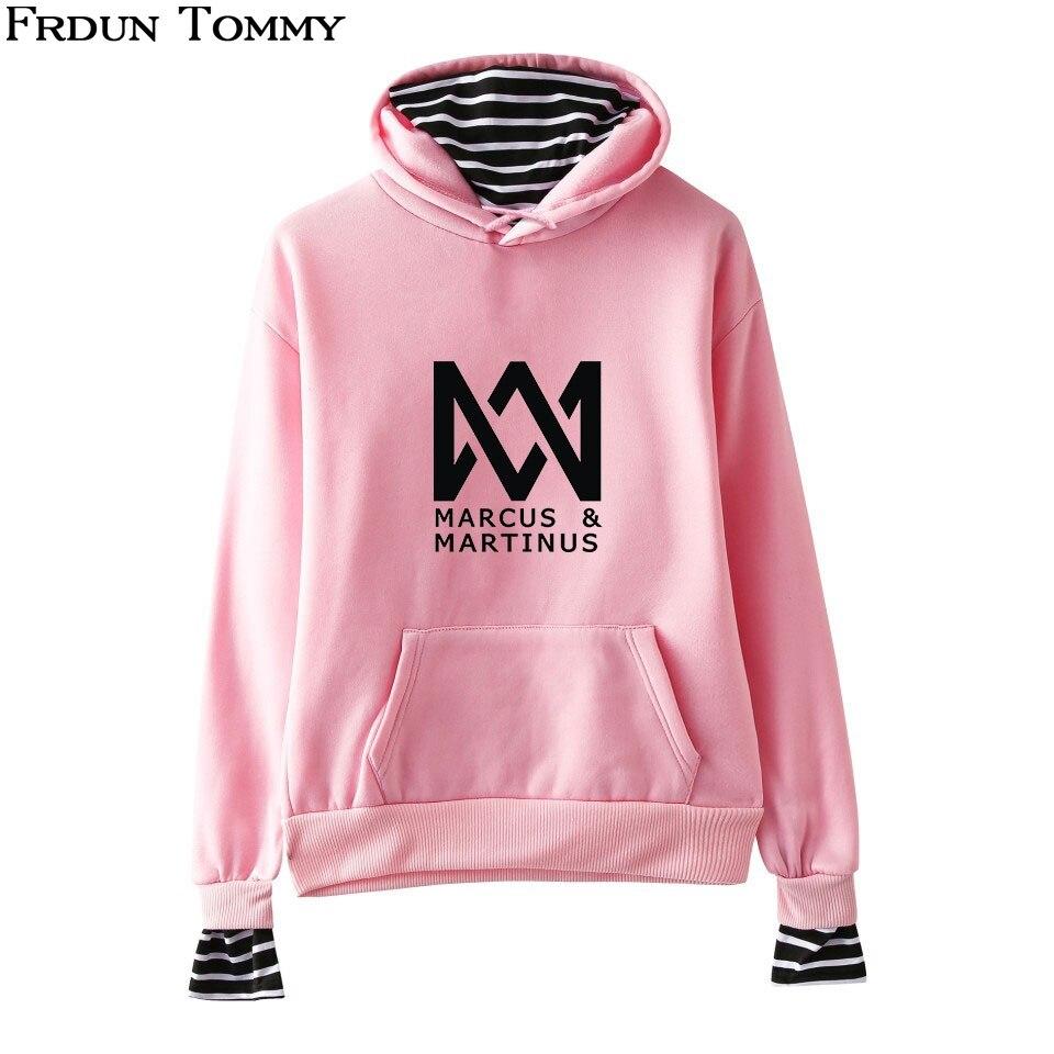Frdun Tommy Marcus & Martinus Hoodies Sweatshirt Women/Men Fake Two Pieces Kpop New Style Print Casual Women Winter Sweatshirt sweatshirt