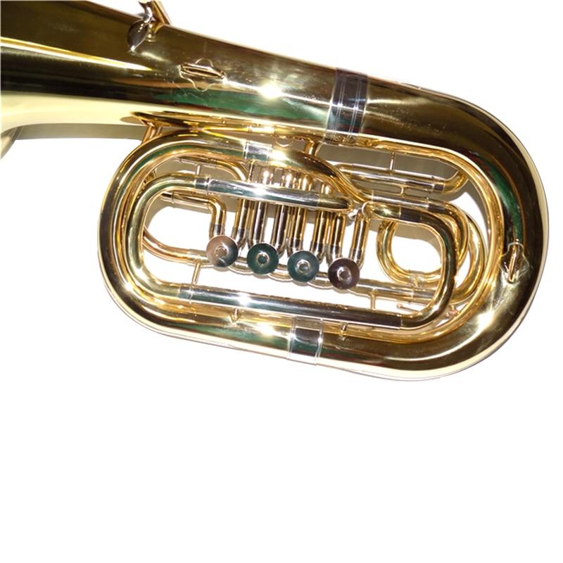 Bb Junior tuba 4 клапана высота 612 мм лак с Чехол и мундштук Instrumentos Musicais professionais