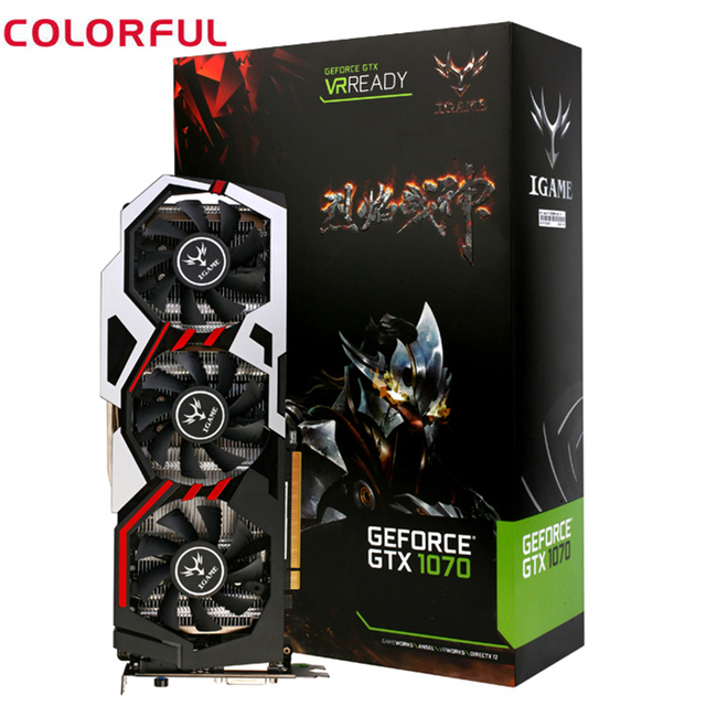 Colorful IGame1070 U 8GD5 Top 256bit GDDR5 Graphics Card GeForce GTX 1070  Desktop Video Card HDMI / DVI / DP 1 4 Interface-in Graphics Cards from