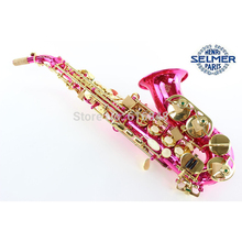 Red saxophone B adjustment Soprano saxophone B(B) saxophone France, Henry Reference 54 Gold Lacquer saxophone