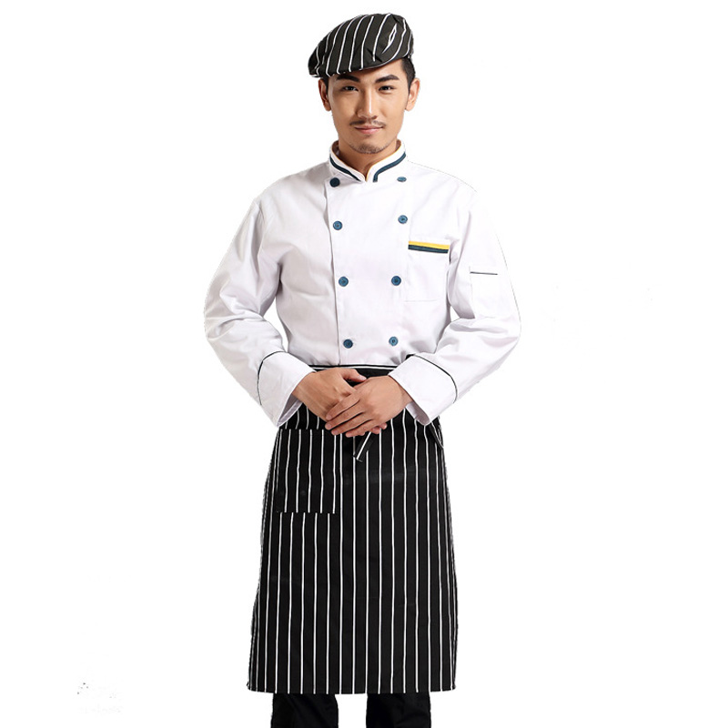 Spring Hotel Chef Jacket Food Service Double Breasted Chef Clothing Kitchen Cook Wear Long Sleeved Restauant Chef Uniform