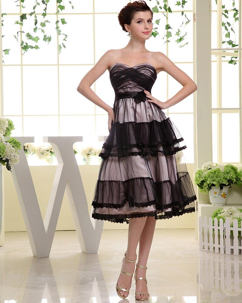 Black Tulle   Cocktail     Dresses   Tea Length Prom   Dresses   Party Gowns   dress   up vestiti eleganti donna cerimonia sera vestido curto