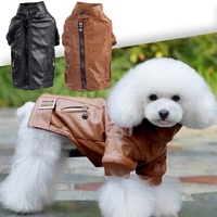 Dog Cat Leather Warm Coat Jacket Pet Clothes Zipper Pockets All Puppy Clothes Pet Clothing Cat