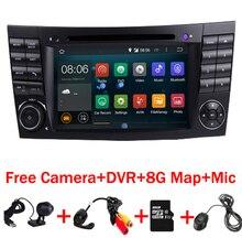 En Stock Quad Core 1024*600 Pantalla Táctil de Coches Reproductor de DVD para mercedes W209 W219 w211 Android 7.1 3G WIFI Radio Stereo GPS 3G DVR