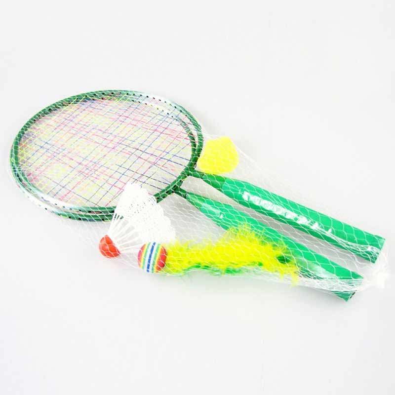 High 1 Pair Youth Children's Badminton Rackets Sports Cartoon Suit Toy For Children  DOG88