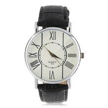 Мужчины Роман Дисплей Бизнес Часы Синий Свет Кварцевые Часы relógio
