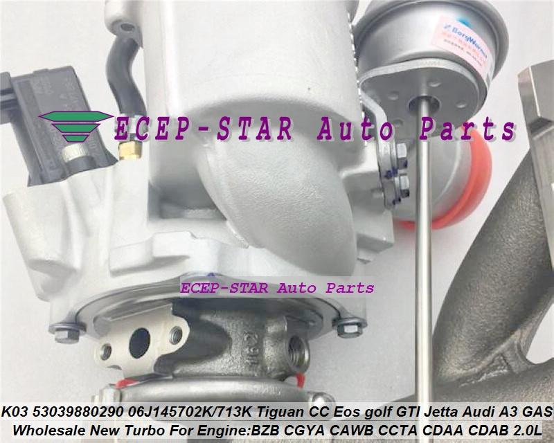 Turbo K03 53039880290 06J145702K 06J145713K 06J145701T For Volkswagen VW Tiguan CC Eos golf GTI Jetta For Audi A3 GAS DOHC 2.0L