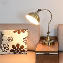 Старинные медные лампы американский прикроватный офис лампы моды роскошь украшение лампы Ретро Европейский Железный Искусства Декоративные настольные лампы