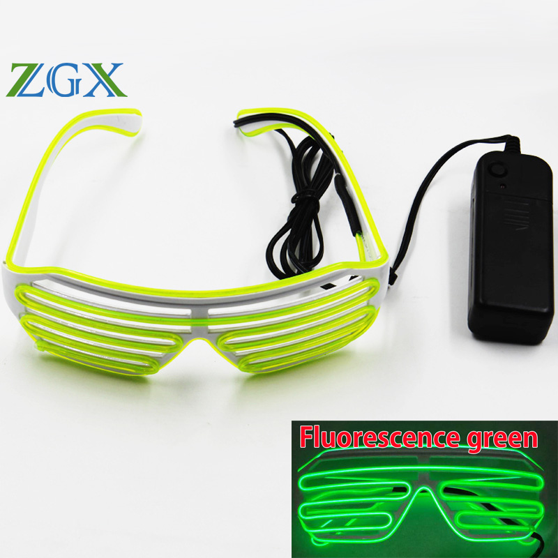 ZGX 3 Modes quick Flashing EL LED Glasses Party Lighting Colorful Glowing Classic Toys For Dance