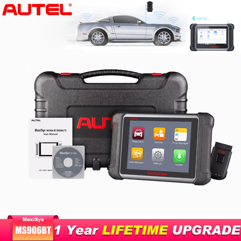 Autel Maxisys MS906BT Diagnostic Auto Car Diagnostic Tool OBD2 Scanner Key Programmer Code Reader Batter Than Launch X431