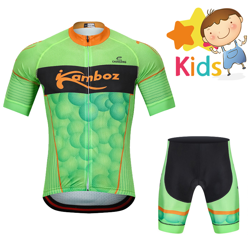 2018 Summer Cycling Clothing for Kids Pro Cycling Jersey Set Short Sleeve Cycling Suit for Boys Girls MTB Bike Ropa Cilismo