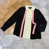 Высококачественная женская блузка и топы с отложным воротником, женская шелковая блузка с длинным рукавом, Женская Повседневная шелковая б