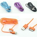 New USB Data Sync Hemp Rope Charger Cable Charging Cord For iPhone 4 4S 2M