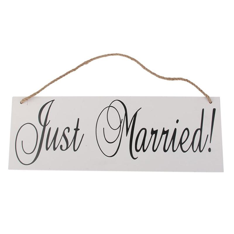 Wooden Wedding Signs Just Married Chic Photo Album Prop Decorating Sign Party Event Favor Wood Pendant Banner Listing Board