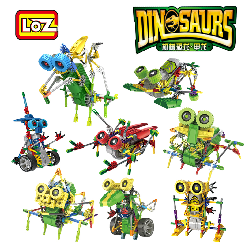 LOZ Électrique Robotique Jouets Moteur Blocs de Construction Dinosaure Animaux Jouet Éducatif Officiel Distributeur Agréé