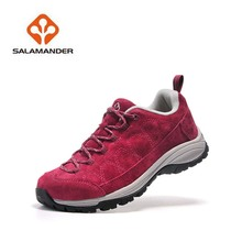 Salamander Waterproof Hiking Shoes 6918 Woman Outdoor Climbing Walking Mountains Trekking Shoes Breathable Genuine Leather Shoes