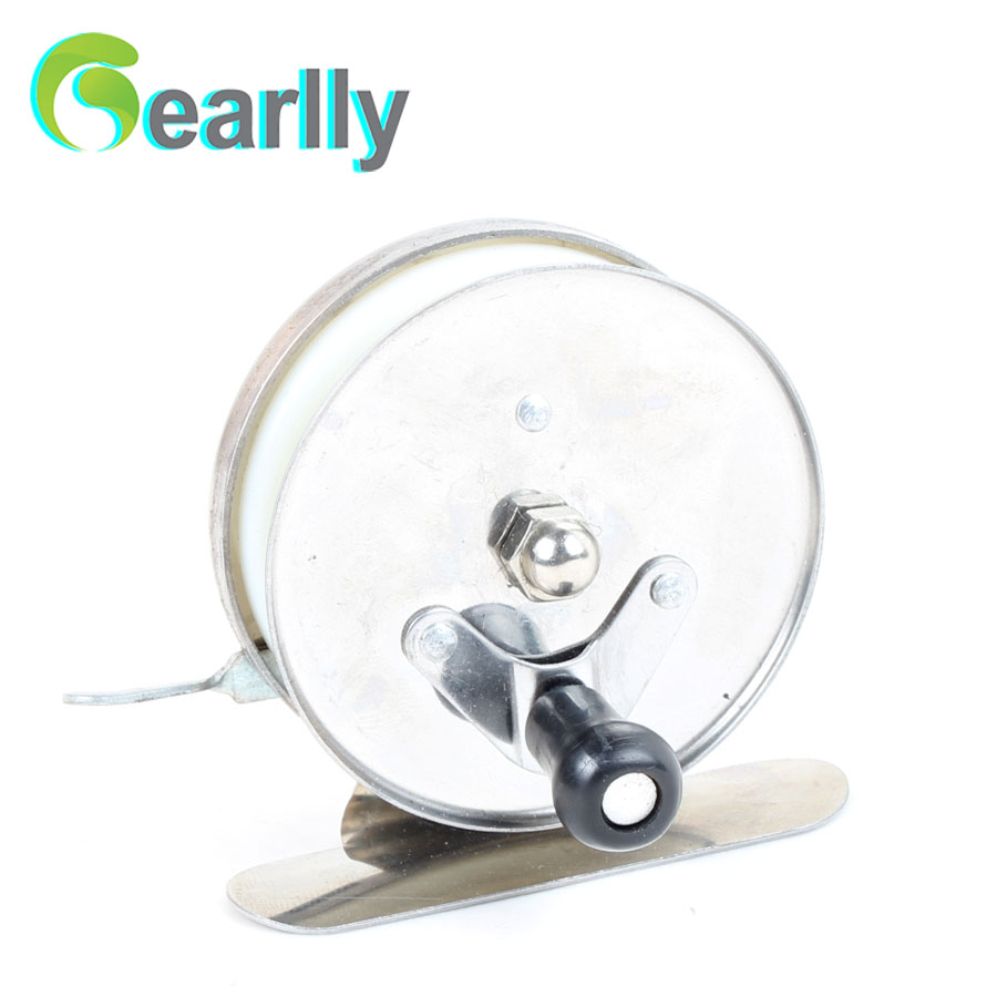 Gearlly economic 1pc stainless steel ice fishing reel fly for Reel steel fishing
