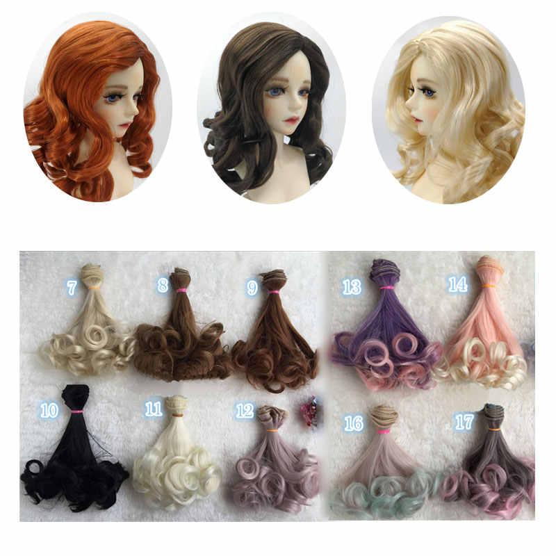 трессы для кукол Модный 15*100 см DIY мини-трессы кукольный парик высокотемпературный материал прямой парик для волос для BJD высокотемпературные аксессуары для кукол трессы для куклы 15cm  волосы для кукол