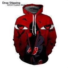 25ce2acf63fc8 Naruto chaqueta Uchiha Itachi Akatsuki jersey con capucha japonés Anime  Cosplay traje Sudaderas hombres Streetwear sudadera