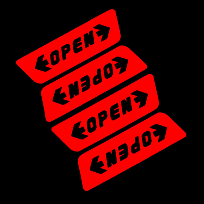 Car Door Open Warning Safety Car Sticker For Skoda Octavia A2 A5 A7 Fabia Rapid Superb Yeti Roomster