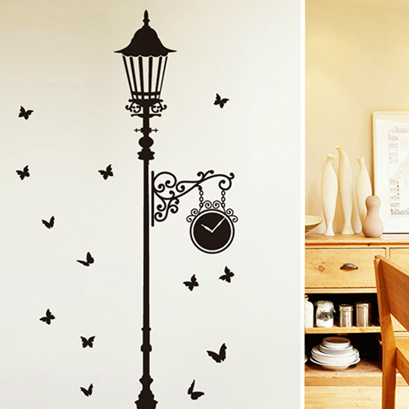 Black Street Fence TV Background Wall Stickers Stickers Are Living Room  Interior Decoration Can Remove The Stickers In Wall Stickers From Home U0026  Garden On ... Part 60