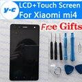 Para xiaomi mi4 lcd display + pantalla 100% nueva digitalizador de pantalla táctil asamblea de cristal del panel reemplazo para xiaomi mi 4 m4 en Stock