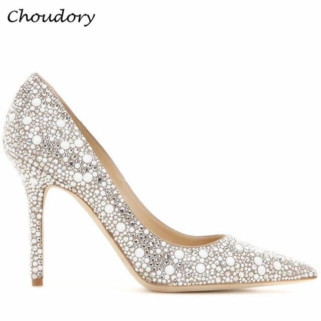 Moda choudory tenis feminino mujeres sexy thin tacones altos zapatos de las  mujeres tachonado rhinestone del c509240751dc