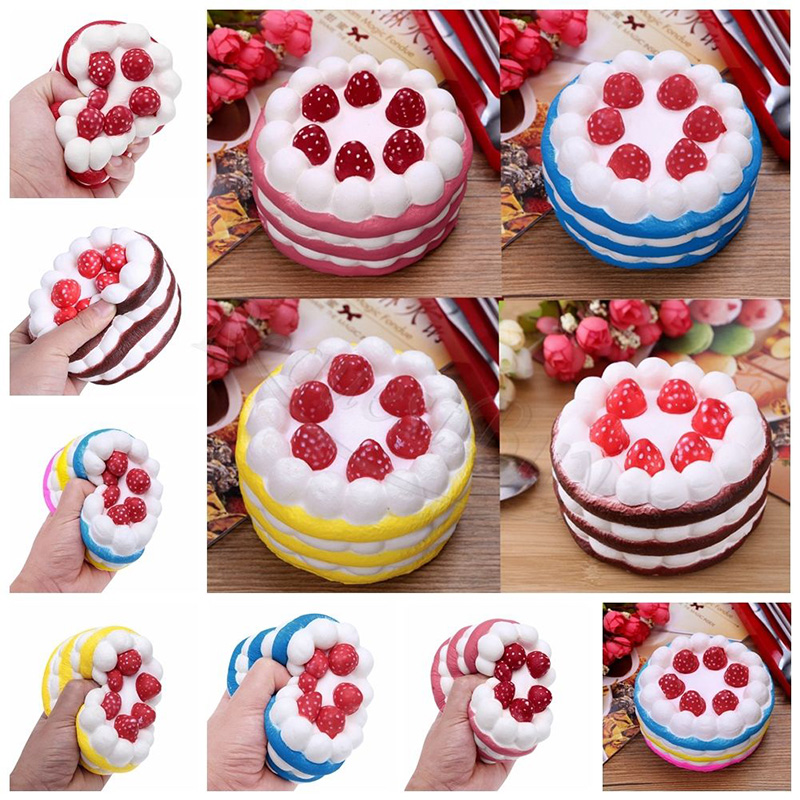 2018 Kawaii Cute Mini Squishy Strawberry Cake Sweet Cream Scented Bread Slow Rising Phone Strap Relieves Stress Kid Fun Toy Doll