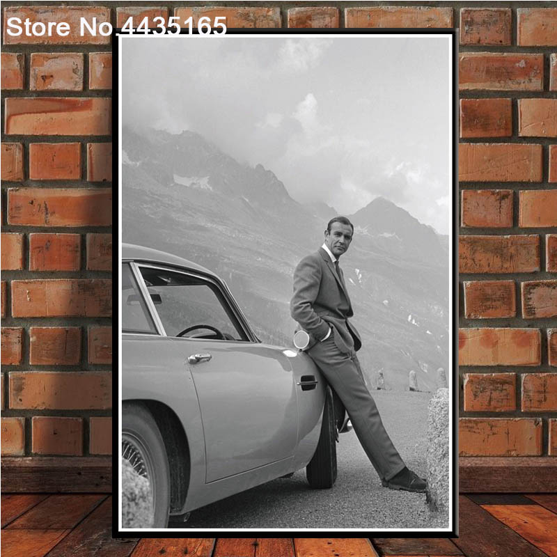007 James Bond Aston Martin Sean Connery Movie Canvas Wall Art Picture Print