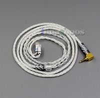 LN006347 99.99% Pure Silver XLR 3.5mm 2.5mm 4.4mm Earphone Cable For Sennheiser IE8 IE8i IE80 IE80s Metal Pin