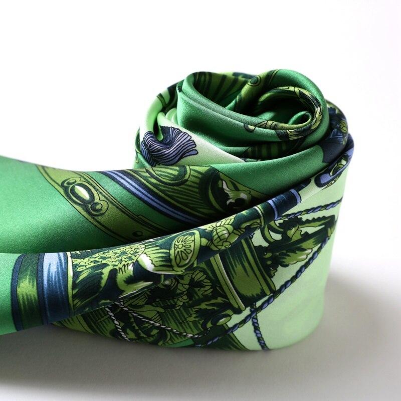 Spring Large Square Silk Scarf Shawl Luxury 100% Soft Satin Silk Scarfs Foulard Hand Rolled Edges 88x88cm