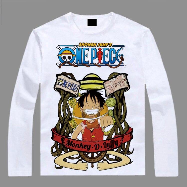 ce79bba79735 Hot One piece wentylatory z długim rękawem t shirt wzór Nami Luffy Zoro  anime SAO t shirt AC43