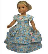 AMERICAN PRINCESS girl doll clothes and accessories Senior dress Fits 18 girl dolls 1pcs