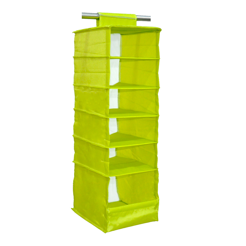 Ikea Style Washable Color Organizer Collection Hanging Accessory Shelves 6 Shelf Shoes Closet