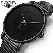 купить LIGE Mens Watches Top Brand Luxury Slim Casual Sport Wristwatch Waterproof Quartz Watch All Steel Watch Men Relogio Masculino по цене 1051.22 рублей