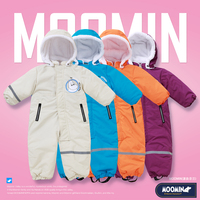 Moomin 2019 new winter overall warm waterproof Polyester hooded cartoon 73 90 cm fleece inside romper soft outdoor snow jumpsuit