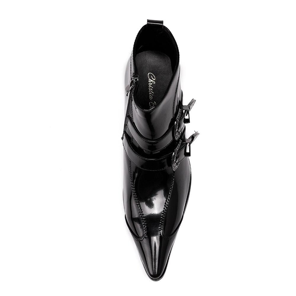 Casual Herren Leder Echtem Stiefel Christia Bequeme Military Schuhe Bella Männer Schwarzes Mode Aus Neue Stiefeletten Winter 7qq5wS6