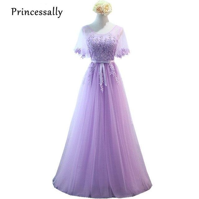 Robe De Soriee New Simple Wedding Dress Full Sleeve Lace: Aliexpress.com : Buy Robe De Soriee New Lilac Bridesmaid