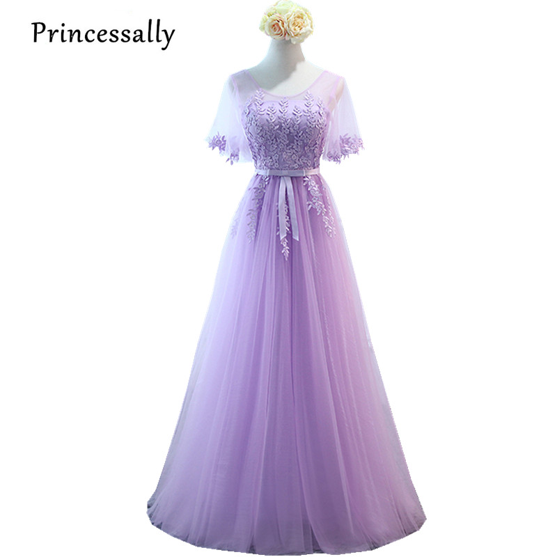 Robe de Soiree nueva Lila Vestidos de dama de honor largo púrpura ...