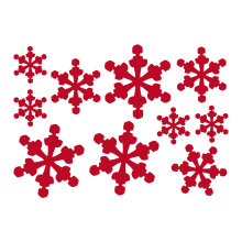 2017 White Winter Christmas Snowflake Decals Merry Holiday Ornaments Decor Glass Market Window Decoration Mural M-207